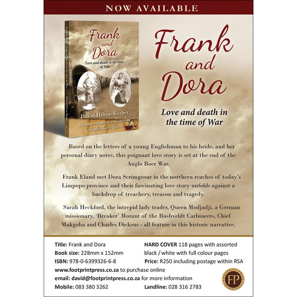 frank and dora, non-fiction historical books, Footprint Press Publications, african literature, south african authors, african authors, african writers